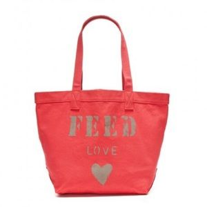NWT Feed Foundation Red Love Tote Bag